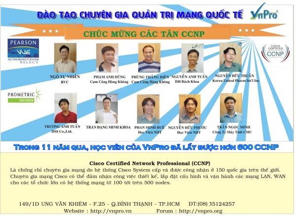 Học viên VnPro đạt bằng quốc tế CCNP