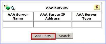 Chọn cấu hình thêm một AAA server.